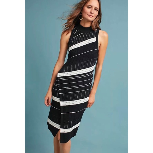 Anthropologie Dresses   Skirts - Anthro MOTH Velda Asymmetric Knit Stripe  Dress a329873d15